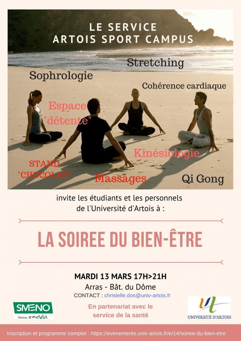 Soirée du Bien-être- Arras             13 mars 17h>21h