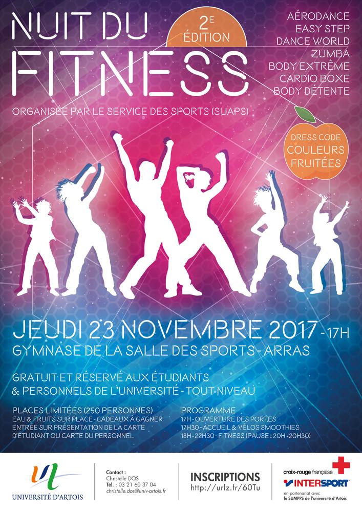 """NUIT DU FITNESS 23 NOVEMBRE 2017-""""2ème édition""""-17H00 - Salle de sports à Arras"""