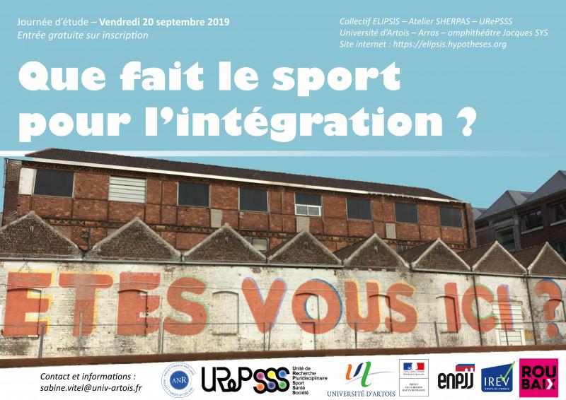 Colloque « Que fait le sport pour l'intégration ? »